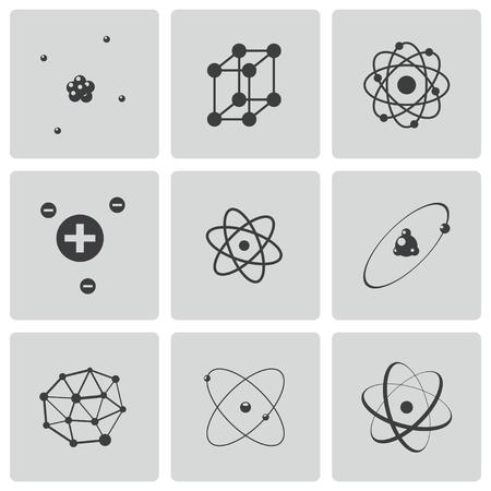 orbits: atom icons set Illustration