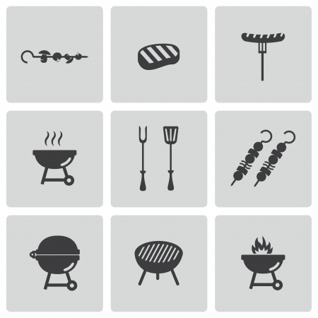 barbeque: barbecue icons set Illustration