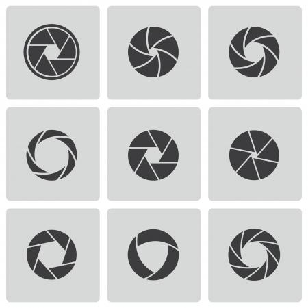 Kamera-Auslöser Symbole gesetzt