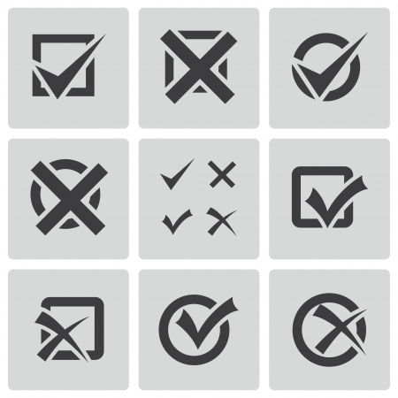 check marks: check marks icons set