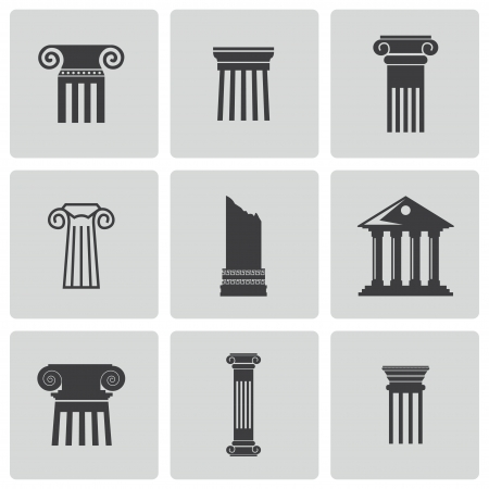 the romans: column icons set