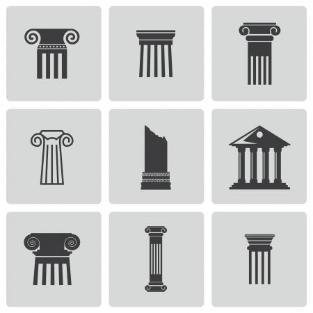 Icone della colonna set Vettoriali