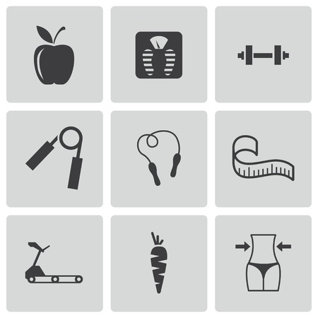 diet icons set Stock Vector - 24596673