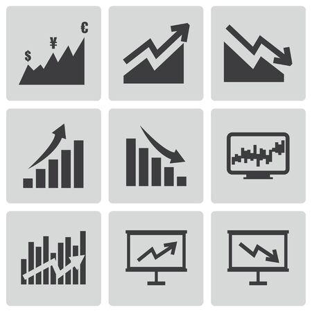 business growth: economic icons set