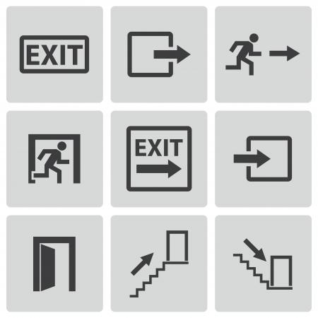 exit icons set