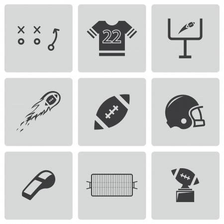 nfl helmet: black football icons set