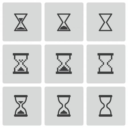 hourglass: black hourglass icons set