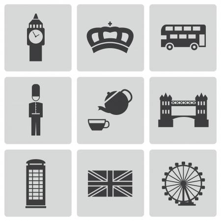 london icons set Vector