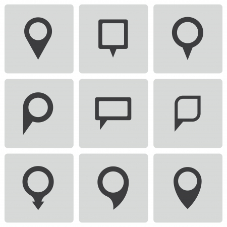 pin point: map pointer icons set Illustration