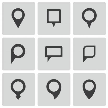 location: map pointer icons set Illustration