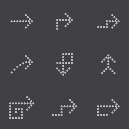 directional arrow: Vector black arrows icons set
