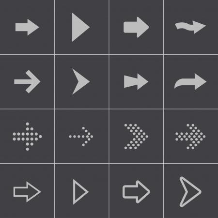 vector arrows: Vector black arrows icons set