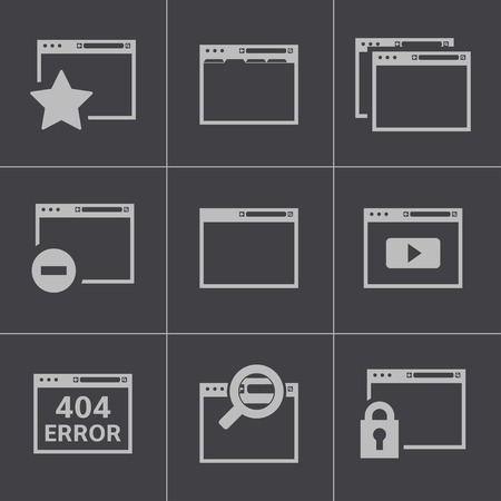 Vector black browser icons Vector