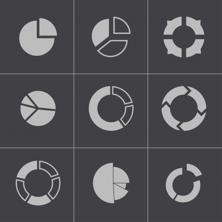 black people: Vector black people search icons set