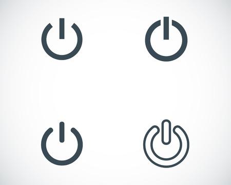 Vector black fermé icônes fixés sur fond blanc