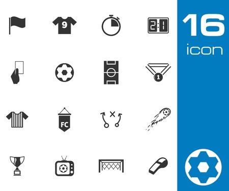 Vector black  soccer  icons set on white background Stock Vector - 25528793