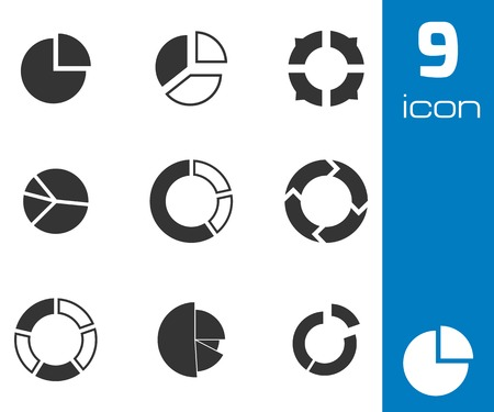 Vector black people search icons set on white background Vector