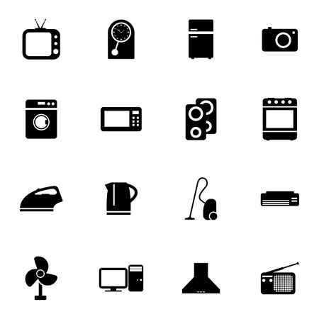 Vector black  home icons set on white background Vector