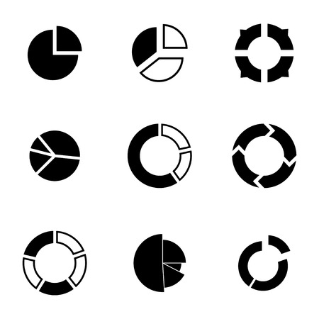 Vector black people search icons set white background Vector