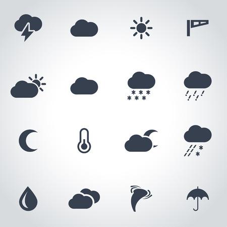 meteo: icona nero impostato su sfondo grigio