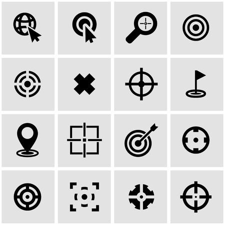 black target icon set on grey background