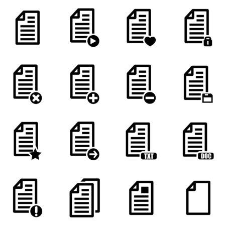 documentos: Vector de documentos en blanco conjunto de iconos en el fondo blanco