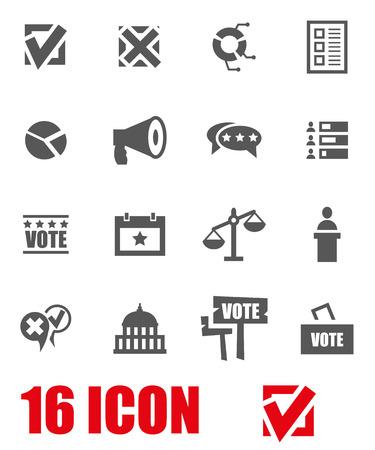 congress: Vector grey education icon set on white background Illustration