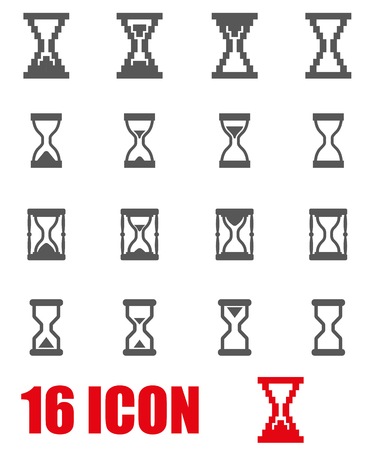 hourglass: grey hourglass icon set on white background Illustration