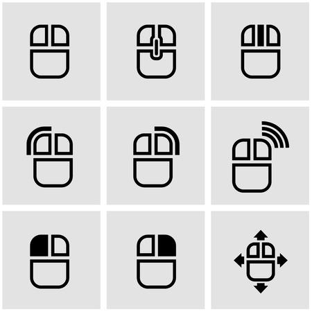 klik: Vector zwarte computermuis icoon. Computermuis Icon Object, computermuis Icon Beeld, computer muis pictogram, computer muis pictogram AI - voorraad vector