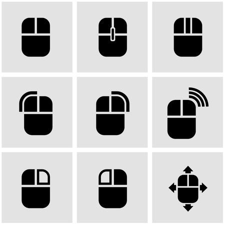벡터 검은 컴퓨터 마우스 아이콘. 컴퓨터 마우스 아이콘 개체, 컴퓨터 마우스 아이콘 그림, 컴퓨터 마우스 아이콘 이미지, 컴퓨터 마우스 아이콘 AI - 재 일러스트