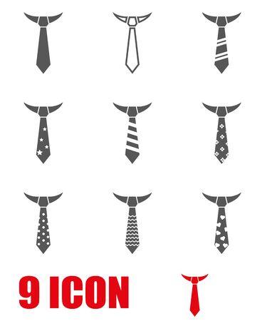 ties: Vector black tie icon set.