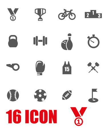 sports: Vector grey sport icon set.
