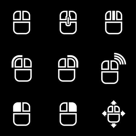 mouse click: Vector white computer mouse icon. Computer mouse Icon Object,  Computer mouse  Icon Picture,  Computer mouse Icon Image, Computer mouse Icon AI - stock vector Illustration