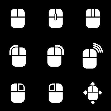 raton: Vector icono blanco ratón de la computadora. Ratón del ordenador Icono de objetos, ratón del ordenador Icono Imagen, Icono de ordenador, ratón Imagen, Ratón del ordenador Icono AI - Imagen vectorial