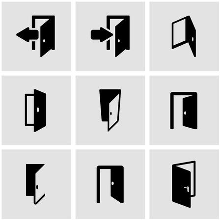 doorknob: Vector black door icon set. Door Icon Object, Door  Icon Picture, Door Icon Image, Door Icon Graphic, Door Icon JPG, Door Icon EPS, Door Icon AI - stock vector