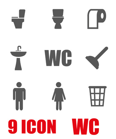 inodoro: set vector icono gris higiénico. WC Icono Objeto, Aseo icono de imagen, Aseo imagen de icono, Aseo icono gráfico, WC Icono JPG, EPS aseo icono, WC Icono AI - Imagen vectorial