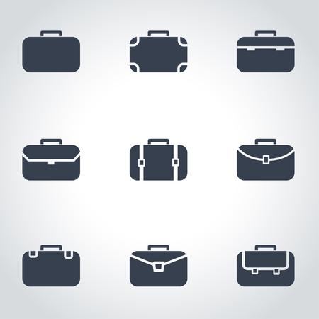 black briefcase: Vector black briefcase icon set. Briefcase Icon Object,  Briefcase  Icon Picture, Briefcase Icon Image,  Briefcase Icon Graphic,  Briefcase Icon JPG,  Briefcase Icon EPS- stock vector