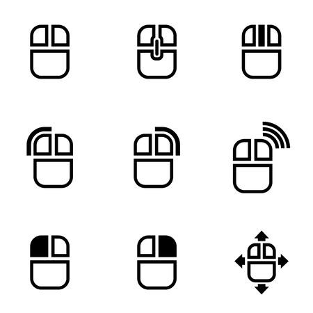 the mouse: Vector icono de ratón de la computadora negro. Ratón del ordenador Icono de objetos, ratón del ordenador Icono Imagen, Icono de ordenador, ratón Imagen, Ratón del ordenador Icono AI - Imagen vectorial