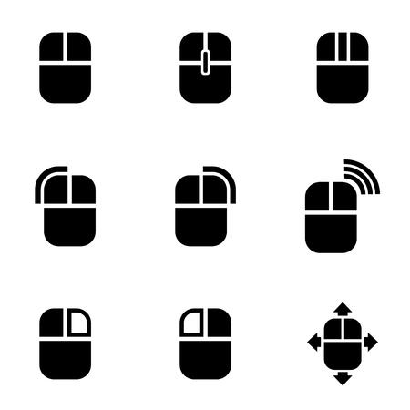 ratones: Vector icono de ratón de la computadora negro. Ratón del ordenador Icono de objetos, ratón del ordenador Icono Imagen, Icono de ordenador, ratón Imagen, Ratón del ordenador Icono AI - Imagen vectorial