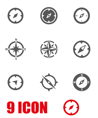Vector grey compass icon set. Compass Icon Object,  Compass  Icon Picture,  Compass Icon Image,  Compass Icon Graphic,  Compass Icon JPG,  Compass Icon EPS,  Cotton Icon AI - stock vector 向量圖像