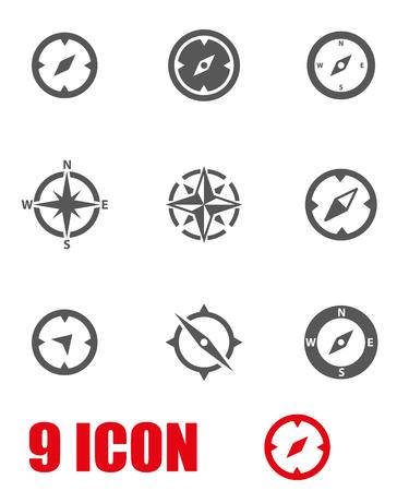 Vector grijze kompaspictogram set. Compass Icon Object, Kompas Icon Beeld, kompas pictogram, Kompas Icon Graphic, Kompas Icon JPG, Kompas Icon EPS, Cotton Icon AI - voorraad vector