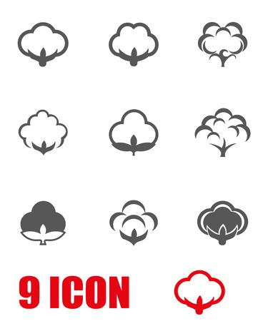 ベクトル グレー綿アイコンを設定。綿 Icon オブジェクト、綿アイコン画像、綿アイコン画像、綿のアイコン グラフィック、綿アイコン JPG、綿アイ  イラスト・ベクター素材