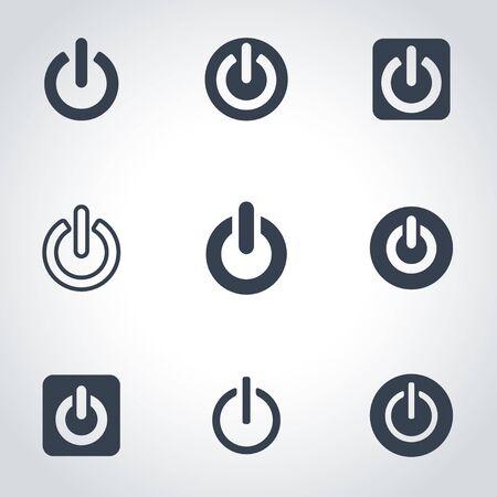 shut: Vector black shut down icon set. Shut down Icon Object, Shut down cart Icon Picture, Shut down Icon Image - stock vector Illustration