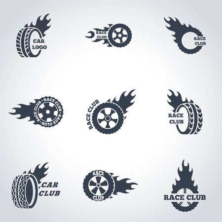 vehicle track: black Racing labels icon set. Racing labels Icon Object, Racing labels Icon Picture, Racing labels Icon Image