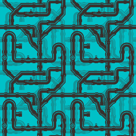 industry pattern: Water Piping Seamless pattern on background Illustration