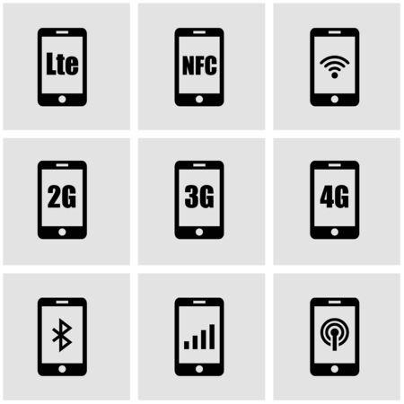 5g: 3G, 4G and LTE technology. Wireless communication technology symbol Illustration