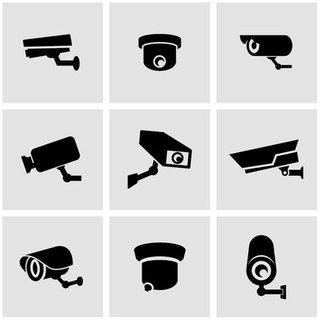 security icon: Vector black security camera icon set. Security Camera Icon Object, Security Camera Icon Picture, Security Camera Icon Image