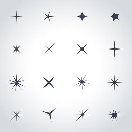 sparkle: Vector black sparkles icon set. Sparkles Icon Object, Sparkles labels Icon Picture, Sparkles labels Icon Image