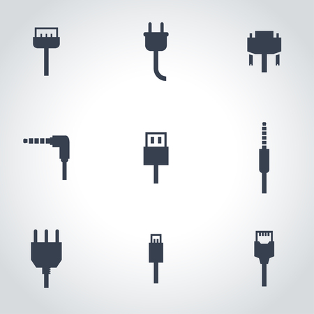 enchufe: Vector black plug icon set. Vector black plug icon set. Plug Icon Object, Plug Icon Picture, Plug Icon Image