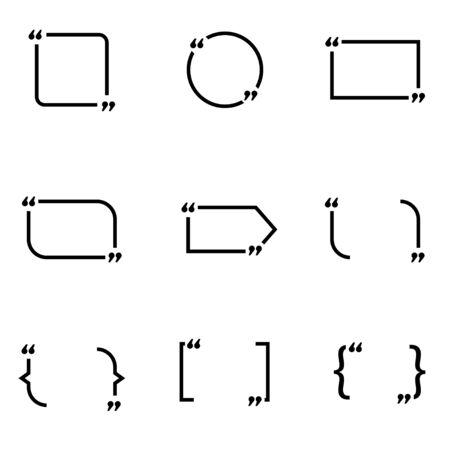 cotizacion: Conjunto de vectores de presupuesto en negro forma de icono. Cita Forma Icono de objetos, formulario de cotización icono de imagen, formulario de cotización de imagen de iconos - vector stock